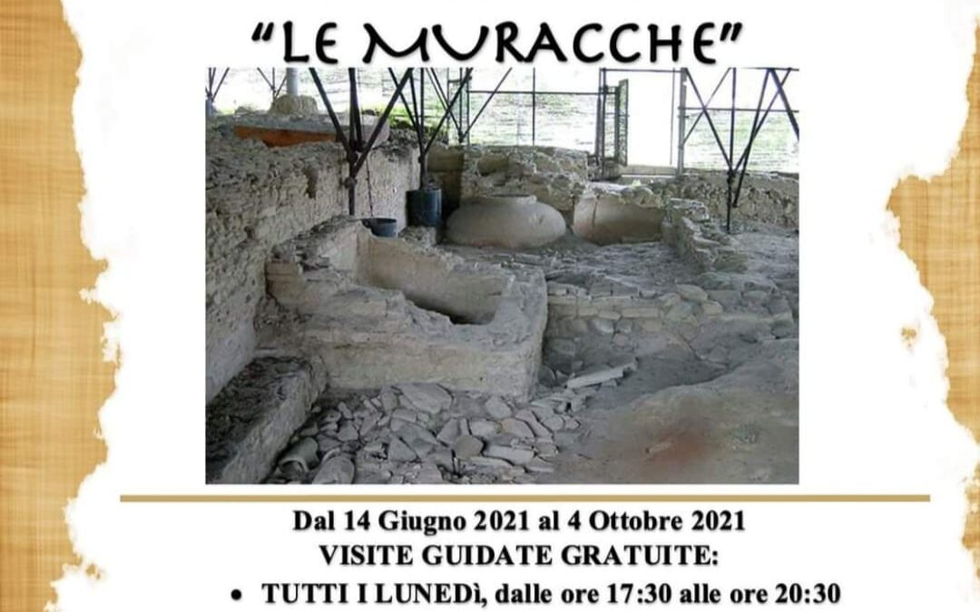 """Dal 14 Giugno visite guidate Villa Rustica """"Le Muracche"""" e dal 7 Luglio laboratori di archeologia per i bambini"""