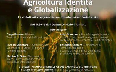 1 settembre – Agricoltura, Identità e Globalizzazione