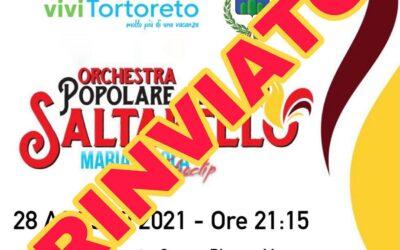 Rinviato al 6 settembre – Orchestra Popolare del Saltarello